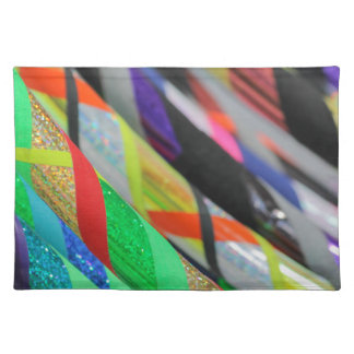 colored hula hoop placemat