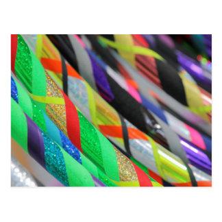 colored hula hoop postcard