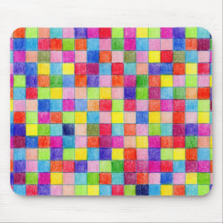 Colored In Graph Paper Squares Mouse Mat