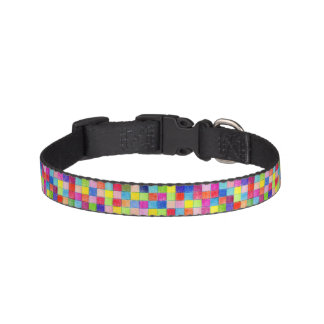 Colored In Graph Paper Squares Pet Collar