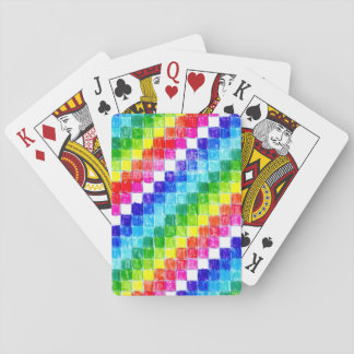 Colored In Graph Paper Squares v2 Playing Cards