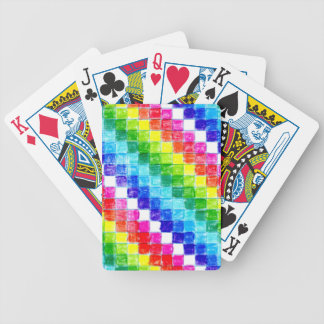 Colored In Graph Paper Squares v3 Bicycle Playing Cards