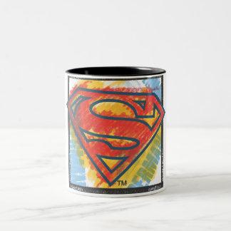 Colored in Shield Two-Tone Mug
