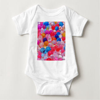 colored jelly balls texture baby bodysuit