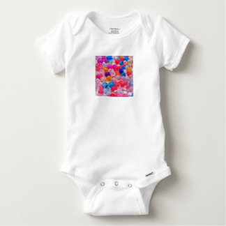 colored jelly balls texture baby onesie