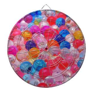 colored jelly balls texture dart board