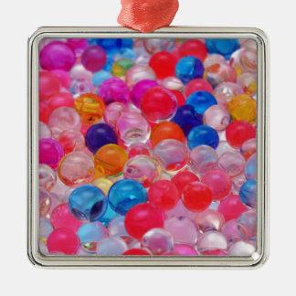 colored jelly balls texture Silver-Colored square decoration