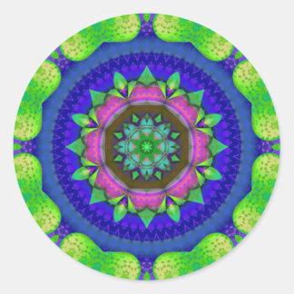 Colored Kaleidoscope Round Sticker
