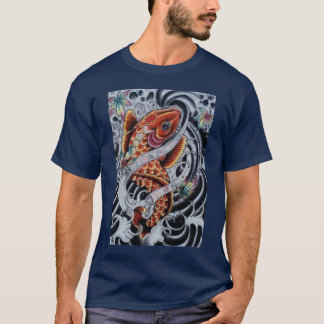 Colored KOI Tattoo look Tee