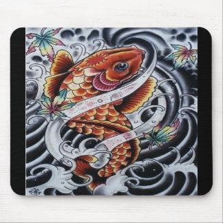 Colored Koi Tattoo Mousepad