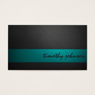 Colored Leather in Teal Business Card