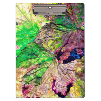 Colored Leaves Clipboard