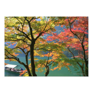 "Colored Leaves 5"" X 7"" Invitation Card"