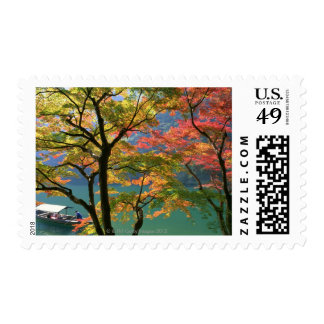 Colored Leaves Stamp
