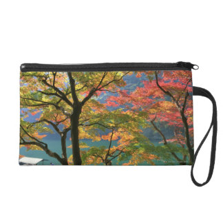 Colored Leaves Wristlet
