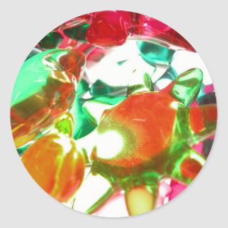 Colored Lights Classic Round Sticker