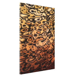 Colored Liquid Metal Abstract orange Stretched Canvas Prints