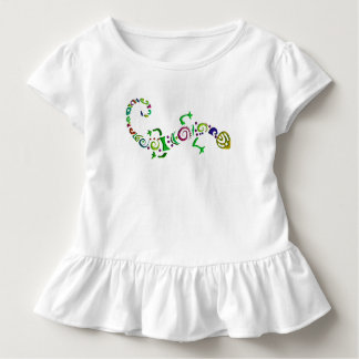 colored lizard Tribal Toddler T-Shirt