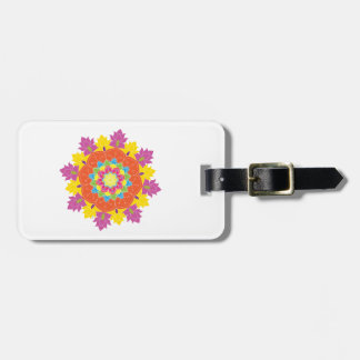 Colored mandala on the white background.Vector Luggage Tag