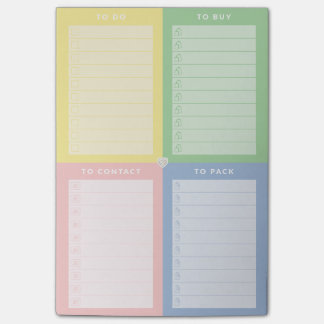 Colored Multiple To-Do's Notepad