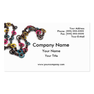 Colored necklace business card