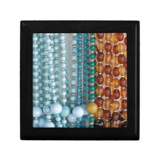 colored necklace stones small square gift box