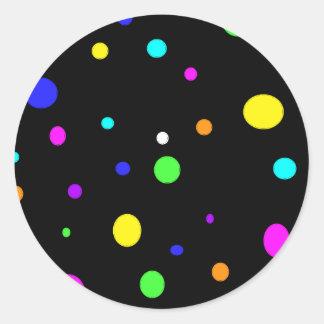 Colored Orbs-sticker Round Sticker