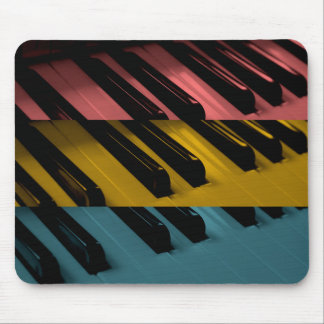 Colored Organ Keys Mouse Pad