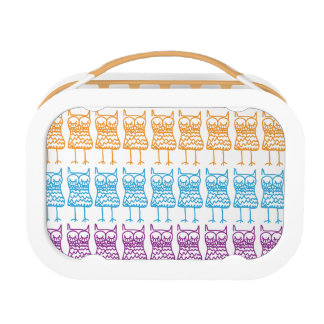 Colored Owls Lunch Box
