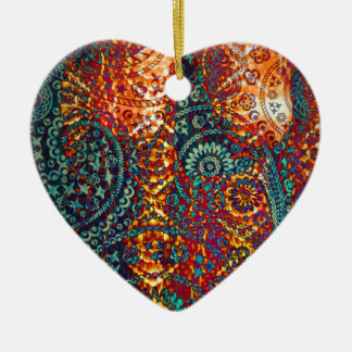 Colored Paisley pattern Ornament