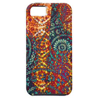 Colored Paisley pattern Tough iPhone 5 Case