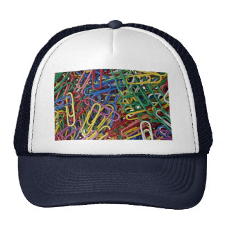 Colored paper clips hats