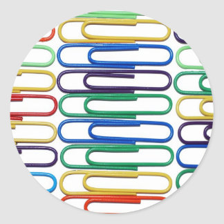 Colored Paperclips Sticker