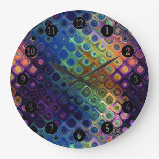 Colored Peacock Art Wallclock