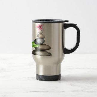 Colored pebbles travel mug