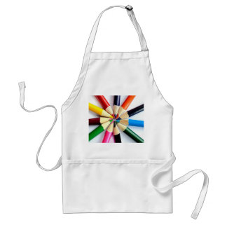 Colored Pencil Circle Standard Apron