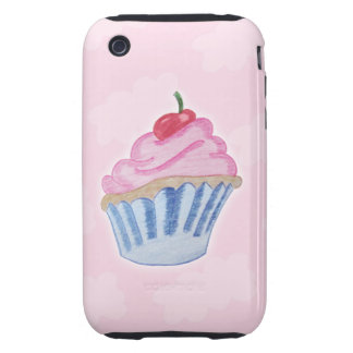 Colored Pencil Cupcake Tough iPhone 3 Covers