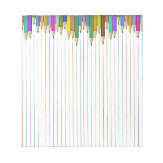 Colored Pencil Ruled Paper Notepad