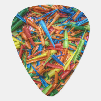 Colored Pencil Shavings Guitar Pick