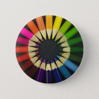 Colored Pencils 6 Cm Round Badge
