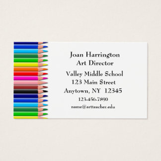 Colored Pencils Business Card