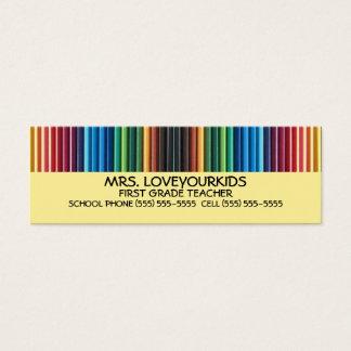 Colored Pencils Mini Business Card