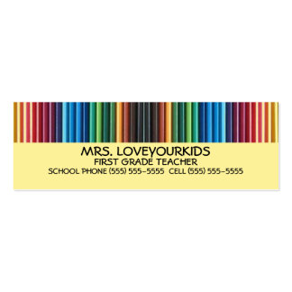 Colored Pencils Pack Of Skinny Business Cards