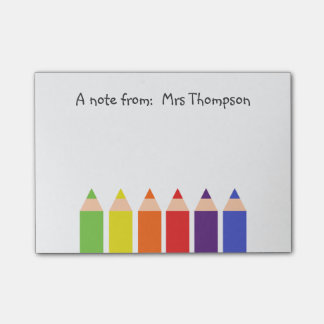 Colored Pencils Post-it® Notes
