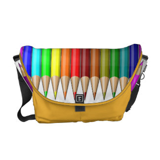 Colored Pencils Rainbow of Art Supplies Courier Bags