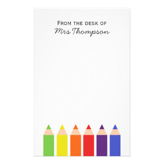 Colored Pencils Stationery