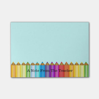 Colored Pencils Teacher's Note Pad