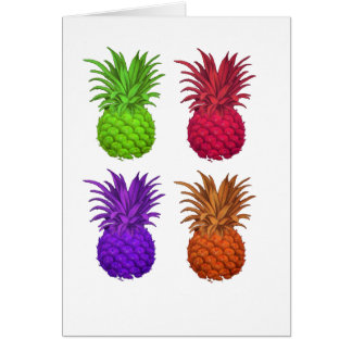colored pineapples card