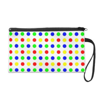Colored Polka Dots Wrist Bag