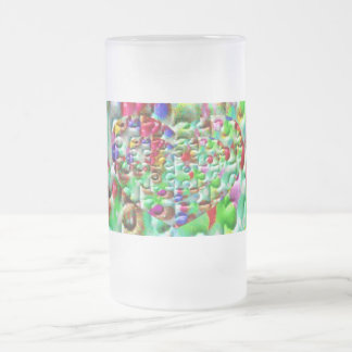 Colored Puzzled Hearts Coffee Mug